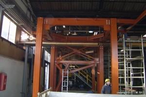 Montaggio in cantiere di carpenteria in ferro per autoclavi